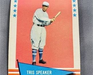 Lot 191 1961 Fleer Tris Speaker Card