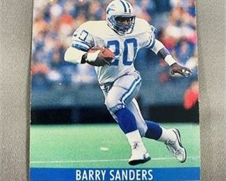 Lot 164 1990 Pro Set Barry Sanders Card
