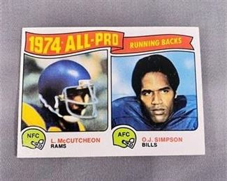 Lot 151 1975 Topps OJ Simpson Card