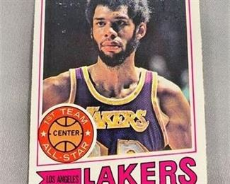 Lot 152 1977-78 Topps Kareem Abdul Jabbar Card