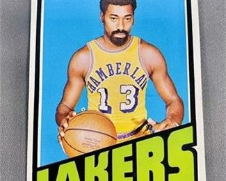 Lot 013 1972-73 Topps Wilt Chamberlain Card