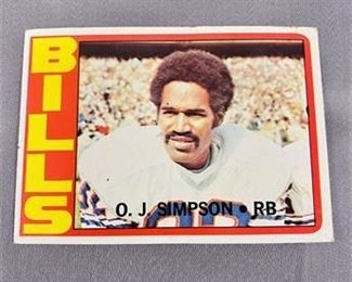 Lot 006 1972 Topps OJ Simpson Card
