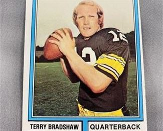 Lot 155 1974 Topps Terry Bradshaw Card