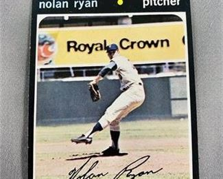Lot 023 1971 Topps Nolan Ryan Card