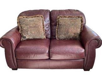 Lot 003 Lane Leather Love Seat.   https://www.bidrustbelt.com/Event/LotDetails/118850661/Lane-Leather-Love-Seat