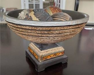 Lot 011 Decorative Bowl with Balls.    https://www.bidrustbelt.com/Event/LotDetails/118910498/Decorative-Bowl-with-Balls