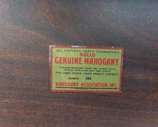 SOLID MAHOGANY HALF MOON TABLE,