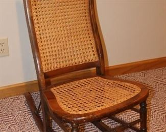 Rocker with Cane Back and Seat