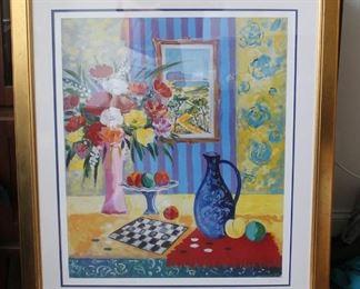 Francois Gicot Framed Print - Signed