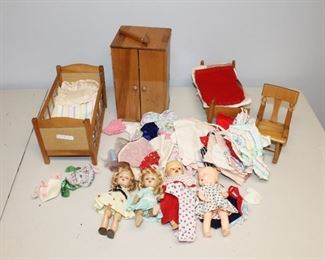 Ginny Dolls and Doll Furniture