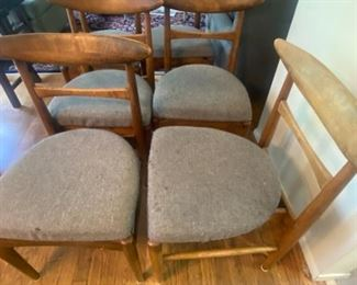 178LG MCM Surfboard Style Dining Room Chairs