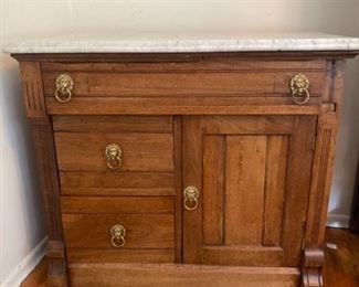 081dr Marble Top Wash Stand