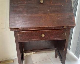 087k Vintage Drop Front Desk For Restoration
