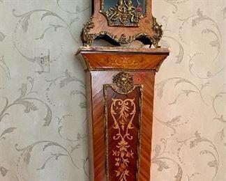 Rosewood Clock & Pedestal (Naples ~ Italy)
