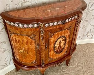 Demi Lune Rosewood Chest (Naples ~ Italy)