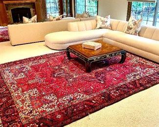 "10'  x 13' 4"" Heriz Persian Rug"