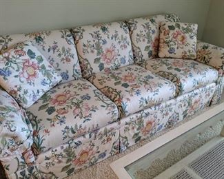 Comfortable quality floral couch