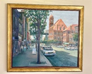 Main Street Station circa 1980. Oil on Canvas by local RVA artist