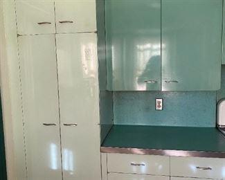 St Charles kitchen, multiple cabinets, original 1950s