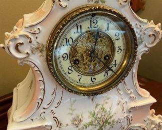 Waterbury china clock, Ca. 1900.