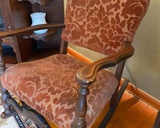Upholstered Rocking Chair in good condition
