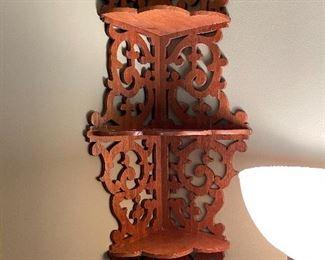 Beautiful corner shelf, walnut