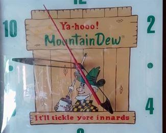 1960 Mountain Dew Clock
