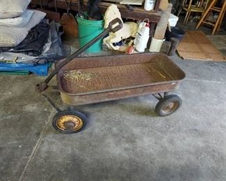 Vintage Metal Wagon