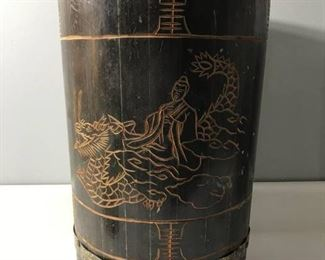 Asian Hand Carved Drum