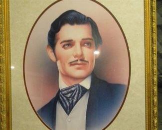 Framed Rhett Butler Portrait