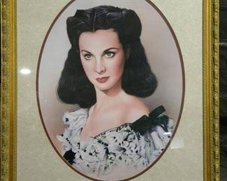 Framed Scarlett O Hara Portrait
