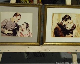 Pair of Framed Gone with The Wind Photos