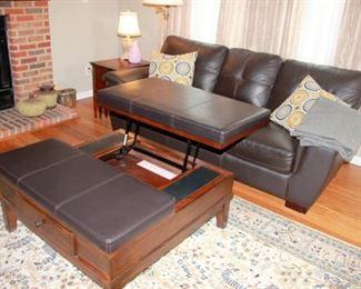 Sofa, Storage Ottoman