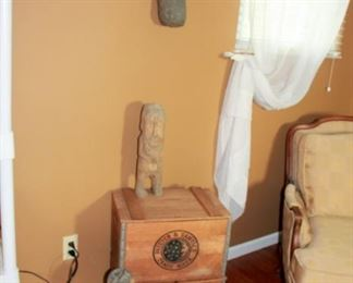 Ivory Wooden Crates, Large Wooden Fetishes