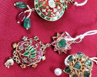 India pieces...possibly Wedding...Ring and Pendants. Gold