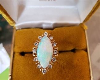 Gold and Opal/Diamonds