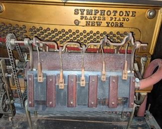 Player piano for parts, but have the player rolls in great working condition.