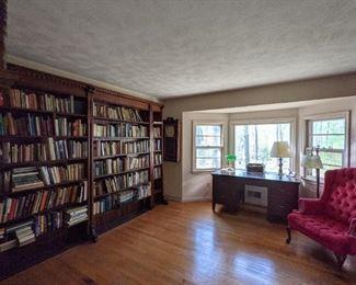 Books of all genre's paperbacks, hardbacks even beautiful display books.                                                                        Antique 7' high bookshelves are for sale.