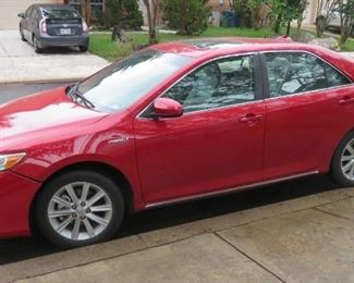 2012 TOYOTA CAMRY HLE HYBRID WITH JUST OVER 60,000 MILES.  VEHICLE ...only item available for presale - CAR HAS SOLD