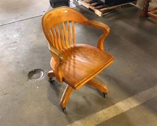 Antique Oak Chair from High Point North Carolina