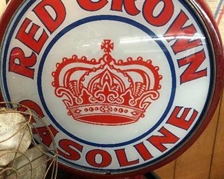 Front Red Crown gas globe