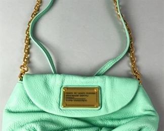 2	Marc Jacobs Bag	Mint green leather bag, with Marc Jacobs Standard Supply Workwear bag