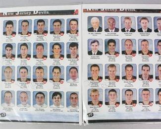 11Autographed NJ Devils Roster CardNJ Devils NHL hockey roster card, signed by Scott Gomez, Jay Pandolfo, Krzysztof Oliwa, Martin Brodeur and Brad Bombardir
