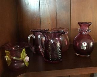 Cranberry Glass Ware
