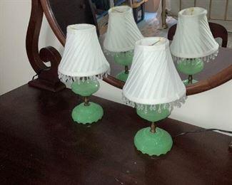Gorgeous Jadite Lamps