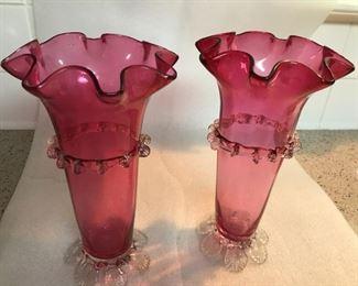 Cranberry Vases