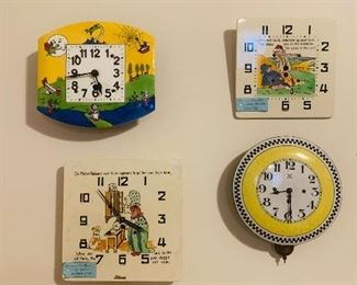 German Nursery Clocks