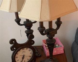 Lamps. Unique Reverse Clock.