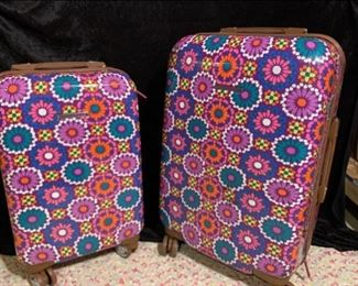 Lily Bloom Luggage Set Suitcase