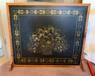 Fireplace Screen - Handpainted by local artist Anne Marie Andrews (dec 2020)